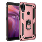 For Alcatel 3V 2019/5032W Shockproof Armor Ring Stand Case Cover+Tempered Glass