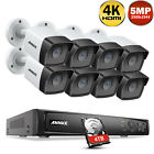 ANNKE 4K 8MP 8CH NVR Outdoor 5MP POE Security IP Camera System H.265+ Onvif IP67