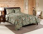 Twin Queen King Comforter Set Camo Camouflage Hunters Cabin Bedding Fall Style