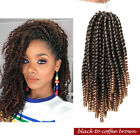 "8"" Spring Passion Crochet Twists Hair Extensions Full Head Braiding Hairpiece h3"