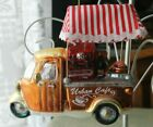 GLASS CHRISTMAS ORNAMENTS FOOD TRUCK, PINK BYCYCLE, TRAVEL LUGGAGE