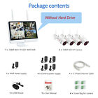 """Home Wireless Security Camera System Outdoor 1080P 8CH NVR 1TB With 15""""Monitor"""