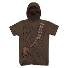 Disney Men's Star Wars Chewbacca Licensed Short Sleeve Costume Hoodie Mask Shirt $13.99 USD on eBay
