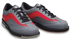Brunswick Mens Rampage Interchangeable Right Hand Grey Red Bowling Shoes