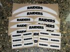 OAKLAND RAIDERS Bumper Football Helmet Decal Set Qty (1) Set 3M 20MIL $4.99 USD on eBay