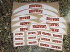 CLEVELAND BROWNS Bumper Football Helmet Decal Set Qty (1) Set 3M 20MIL $4.99 USD on eBay