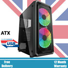 PC GAMING COMPUTER ATX TOWER CASE TEMPERED GLASS M/ATX - iONZ KZ10