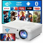 LED Smart Android 6.0 Projector Home Theater Wifi BT 1080p Video Movie HDMI