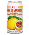 12 x FOCO Juice Drink (Mango and Passion Fruit, Roasted Coconut, Pomegranate)