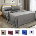 4 Piece Fitted Bed Sheet Set Egyptian Comfort 2200 Count Deep pocket Sheets image
