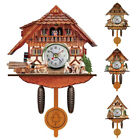 Antique Wooden Cuckoo Wall Alarm Clock Bird Time Bell Swing Office Home Decor