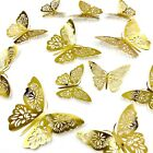 12pcs 3D Butterfly Wall Stickers Art Decals Home All Room Decorations Decor Kid