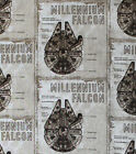 STAR WARS MILLENIUM FALCON BLUEPRINT CAMELOT FABRICS 100% COTTON 7360301 01