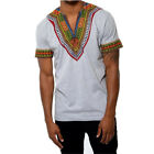 Fashion Mens African Style Tee Summer Traditional Casual Dashiki T-Shirt Blouse