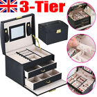 Large Jewellery Box Rings Necklaces Bracelets Watch Jewelry Storage Organiser Uk