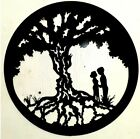 Fancy Tree Of Life Hidden Faces Lover Art Metal sign 18 Inch Polished or Black