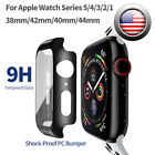 Tempered Glass Protector Screen Case Cover For iWatch Apple Watch 6 5 4 3 2 1 SE
