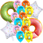 """12"""" THE SIMPSONS BIRTHDAY DONUT HOMER BALLOONS PARTY DECORATION CUPCAKE TOPPER"""