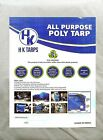 5 Mil Light Duty Poly Tarp 80 GSM All Purpose Canopy Reinforced Tarpaulin BlkWht