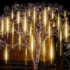288 LED Lights Meteor Shower Rain Icicle Tree String Light Garden Outdoor Party
