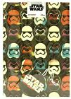 Official STAR WARS Storm Troopers Gift Wrap Sheet Tag Retro Boys Wrapping Paper