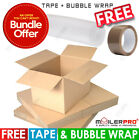 SPECIAL BUNDLE OFFER! FREE TAPE + BUBBLE WRAP WITH CARDBOARD PARCEL POSTAL BOXES