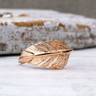 14K Solid Rose Gold HANDMADE FEATHER Ring Dainty Jewelry Unique Gift