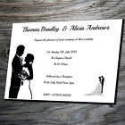 Wedding Day or Evening Invitations - Personalised Postcard style with Envelopes