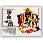 Live and Let Die retro movie poster framed canvas wall art print £44.99 GBP on eBay