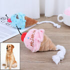 Ice Cream Play Pet Chew Toys Dog Puppy Plush Squeak Small Dogs Pet Cat Toy UKWJS