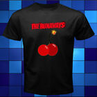 New The Runaways Cherry Bomb Logo Joan Jett Black T-Shirt Size S M L XL 2XL 3XL