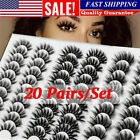 20 Pairs 3d Mink Natural Bushy Cross Fake False Eyelashes Hair Eye Lashes Black
