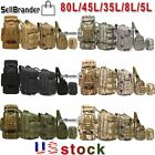 8L/35L/45L/80L Outdoor Tactical Military Trekking Backpack Camping Hiking Bag US