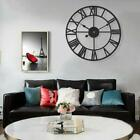 40 cm Home Office Rose Gold Face Metal Skeleton Wall Clock Roman Numerals Nice