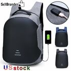 Mens Anti Theft Waterproof 15.6 Laptop Backpack Usb Charging Travel School Bags