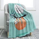 Jekeno Sloth Print Throw Blanket Smooth Soft Blanket Kid Baby for Sofa Chair Bed