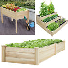 Large Wooden Garden Raised Bed Planter Planting Box Flower Plant Display Stand