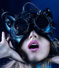 Masquerade black cat mask steampunk costume dress up Party Wear and Deco NEW