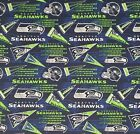 """NFL Seattle Seahawks Retro Cotton Fabric by the 1/4,1/2,Yard, 58""""W for Face Mask $12.99 USD on eBay"""