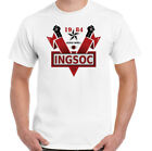 INGSOC T-Shirt 1984 Mens George Orwell Fictional Novel English Socialism Top