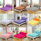 Solid Color Fitted Bedding Cover Polyester Coverlet Modern Soft Home Textile