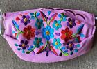 Beautiful Mexican Face Mask Embroidered COSMOS FLOWERS Washable cubreboca f66