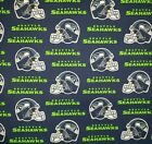 """NFL Seattle Seahawks Logo Cotton Fabric by the 1/4,1/2,Yard, 58""""W for Face Mask $9.95 USD on eBay"""