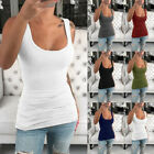 Plus Size Women Summer Vest Tank Tops Sleeveless Tees Slim Sports Yoga T-Shirts