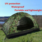 Outdoor Camouflage Camping Tent for 1-4 Person Single Layer Waterproof Hiking US
