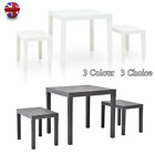 Garden Furniture Set Plastic Table & Benches Optional Outdoor Dining Table Chair