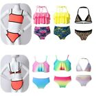 Kids Girls Swimwear Set Swimmable Mermaid Tail Bikini Swimsuit Outfits Beachwear