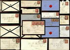 GB QV PENNY RED PLATES on COVER POSTMARKS DUPLEX etc ...PRICED INDIVIDUALLY