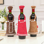 Christmas Apron Cap Hat Wine Champagne Bottle Cover Dinner Party Holiday Decor