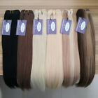 """12""""-24"""" Remy 100 Human Hair Weft Weave Weaving Extensions DIY Straight 100g/pc"""